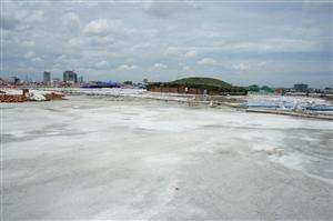 Mặt bằng thi công trên mái Trung tâm TM Savico Megamall