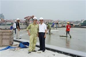 Công trình bãi container cảng cái lân