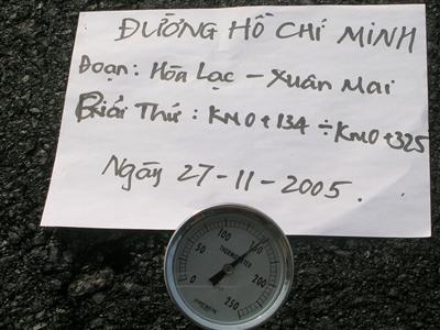 Thí nghiệm kiểm tra chất lượng thi công đường Hồ Chí Minh – Đoạn Hòa Lạc – Xuân Mai